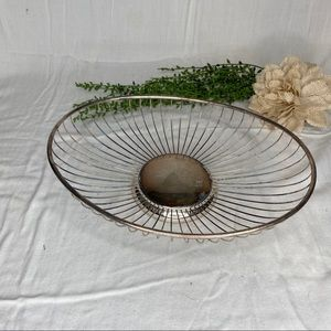 MCM Made In Italy Silver Plated Oval Fruit Basket